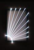 Zerreiben belichtetes Neon Lizenzfreie Stockfotos