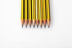 Zerriebene Bleistifte Stockfotos