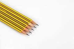 Zerriebene Bleistifte Stockfotografie