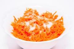 Zerriebene Karotten Lizenzfreies Stockfoto