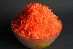 Zerriebene Karotten Stockfotografie