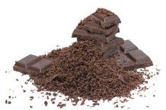 Zerriebene Schokolade Stockfoto