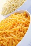 Zerriebener Cheddar-Käse Lizenzfreies Stockfoto