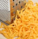 Zerriebener Käse Lizenzfreie Stockbilder