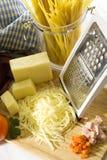 Zerriebener Käse Stockbild