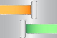Zerrissen vom grauen Papier Lochstreifen für Hintergrund stockfoto