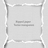 Zerrissener Papier- und transparenter Hintergrund mit Raum für Text Stockbilder