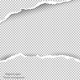 Zerrissener Papier- und transparenter Hintergrund mit Raum für Text, Stockfoto