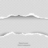 Zerrissener Papier- und transparenter Hintergrund mit Raum für Text Stockfotos