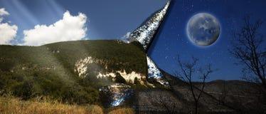 Zerrissenes Landschaftsplakat Lizenzfreie Stockbilder