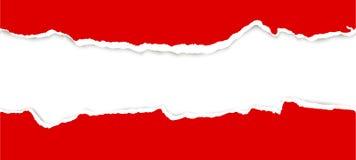 zerrissenes offenes Papier Stockbild