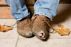 Zerschlagene Schuhe Stockbilder
