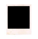 Zerschlagene und alte angeredete getrennte Zeichnung eines quadratischen sofortigen Fotofeldes mit Schatten und aufgerundeten Eck Lizenzfreie Stockfotos