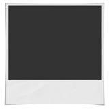 Zerschlagene und alte angeredete getrennte Zeichnung eines quadratischen sofortigen Fotofeldes mit Schatten und aufgerundeten Eck Lizenzfreie Stockfotografie