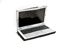 Zerschlagener Laptop Stockbild