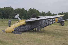 Zerschmettern Sie Militärflugzeuge Stockfotos
