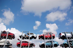 Zerschmetterte Autos Lizenzfreies Stockbild