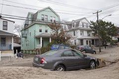 Zerschmetterte Autos nach Hurrikan Sandy Lizenzfreies Stockbild