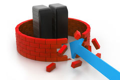 Zerschmetterte Serversicherheit Lizenzfreie Stockfotos