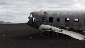 Zerschmettertes Flugzeug Stockbild