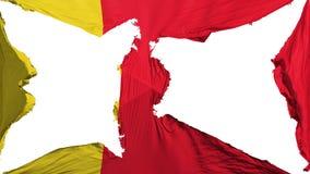 Zerstörte Moroni-Flagge lizenzfreie abbildung