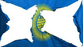 Zerstörter Commonwealth der Nationsflagge stock abbildung