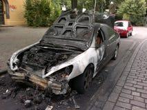 Zerstörtes Auto Stockbilder
