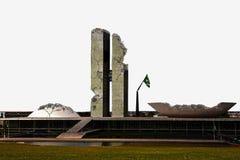 Zerstörtes Brasilien | Kongressgebäude des Brasilianers in den Ruinen Stockfoto