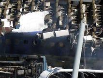 Zerstörtes Flugzeug Lizenzfreies Stockbild