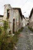 Zerstörtes Gebäude nach dem Erdbeben in Italien Lizenzfreie Stockbilder