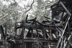 zerstörtes Haus Lizenzfreie Stockfotografie