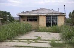 Zerstörtes Haus nach Hurrikan Katrina stockfotografie