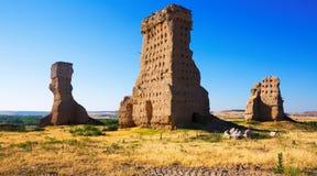 Zerstörtes Schloss von Palenzuela Stockfotografie