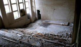 Zerstörung der Bildung Stockfotografie