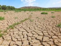 Zerstörung der Bodenfruchtbarkeit Umwandlung in die Wüste Lizenzfreie Stockfotos
