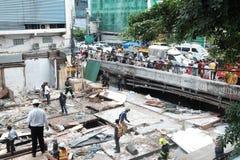 Zerstörung des Eisen-Brücken-Marktes in Bangkok, Thailand Auf 28 Octob Stockfotos