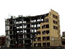 Zerstörung eines großen Gebäudes Stockfotografie