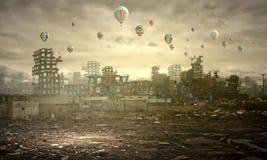 Zerstörung und Verschmutzung Stockfotografie