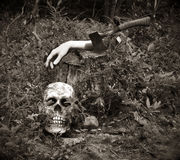 Zerstückelte Hand für Halloween lizenzfreies stockbild