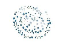 Zerstreute flippige Sterne vektor abbildung