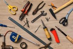 Zerstreute Hauptwerkzeuge lizenzfreies stockfoto