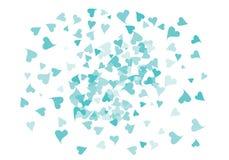 Zerstreute Herzkonfettifahne vektor abbildung