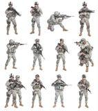 Zerstreute Infanterie der Fallschirmjäger lizenzfreie stockbilder