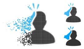 Zerstreute Pixel Halbton-Kickboxer-Ikone vektor abbildung