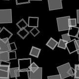 Zerstreute Quadrate grau Lizenzfreie Stockbilder