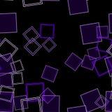 Zerstreute Quadrate purpurrot Lizenzfreie Stockfotos