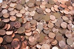 Zerstreute Sammlung südafrikanische Münzen 2 Stockfoto
