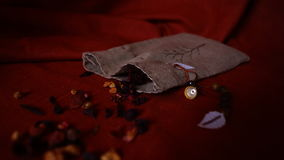 Zerstreute Teeblätter Stockfotografie