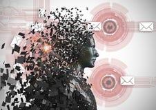 Zerstreuter Mensch 3d über abstraktem Hintergrund Lizenzfreies Stockbild