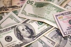 Zerstreutes Bargeld-Geld Lizenzfreie Stockbilder